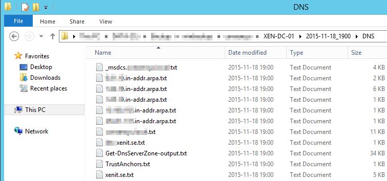 DNS Backup